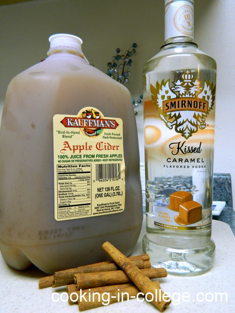 Caramel Apple Cider Alcoholic Drink