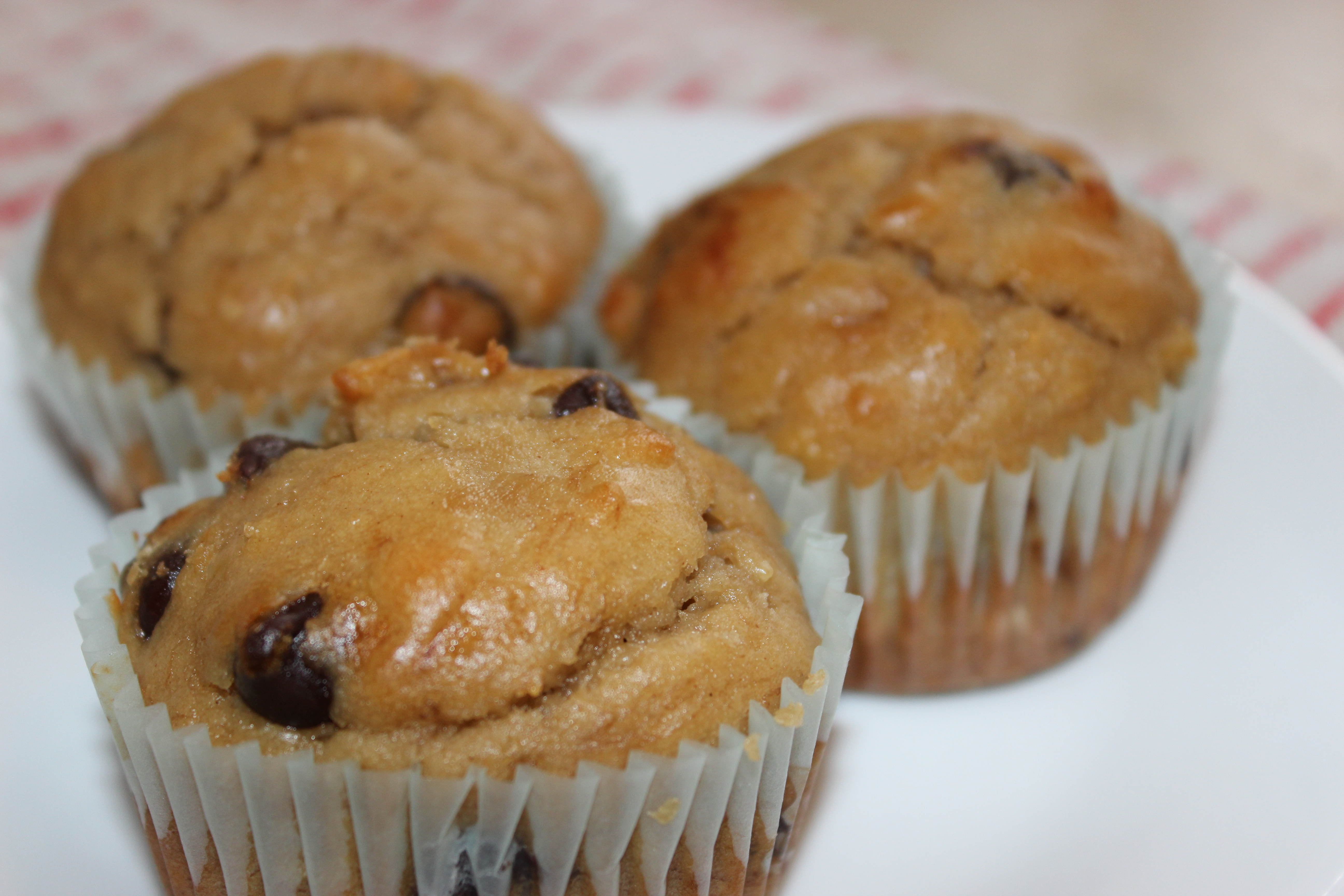 Cooking in College - Peanut Butter Chocolate Chips Banana Muffins