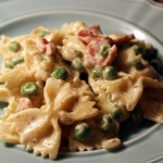 Peas and Bacon Pasta