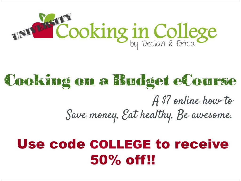 cooking in college eCourse